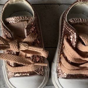 Infant girl rose gold converse shoe size 2c